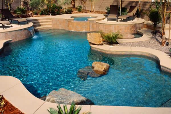 Pool & Spa Design by 360 Exteriors Pool & Spa Builders of Las Vegas, Nevada