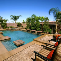 Beautiful Pool & Spa Design from 360 Exteriors of Las Vegas, Nevada