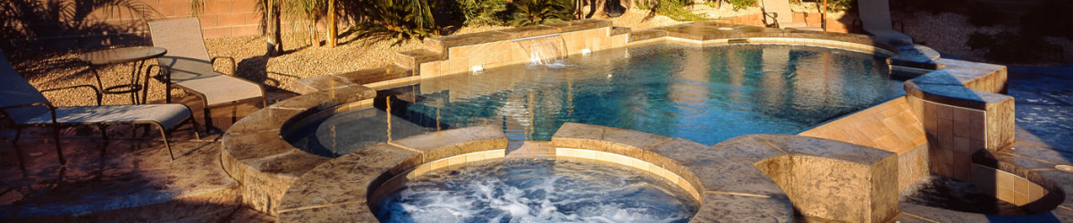 Dusk Outdoor Pool and Spa