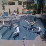 70 360 Exteriors Applying the Pools Interior Surface