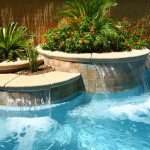 Beautiful Pool Waterfalls and Design Accents