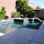 North West Contemporary Pool & Spa Build - 360 Exteriors of Las Vegas, NV
