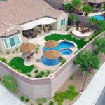 Kevin & Ellen S. Aerial Perspective Custom Backyard Build