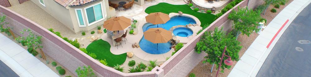 Aerial Pool Photo by 360 Exteriors of Las Vegas - Anthem Nevada