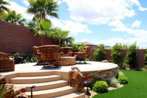 Raised deck with Las Vegas Strip View
