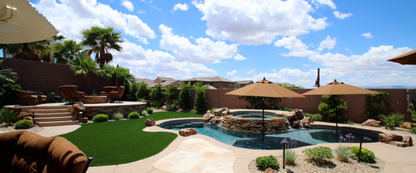 Custom Swimming Pool Designed and Built by 360 Exteriors Pool & Spa of Las Vegas, Nevada