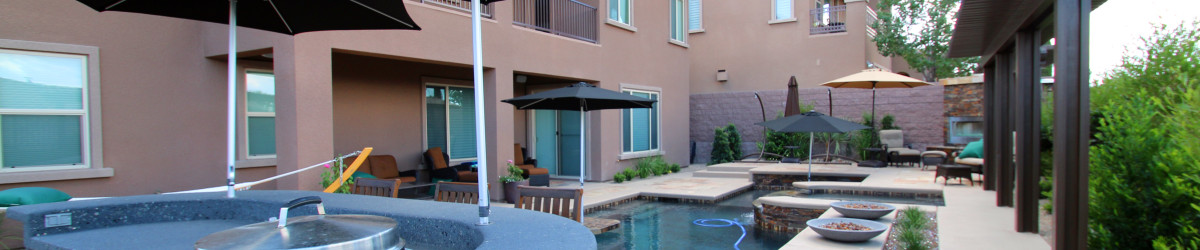 Custom Outdoor Kitchen & Pool by 360 Exteriors of Las Vegas, NV