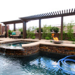 360 Exteriors Custom Designed Pool, Spa and Backyard