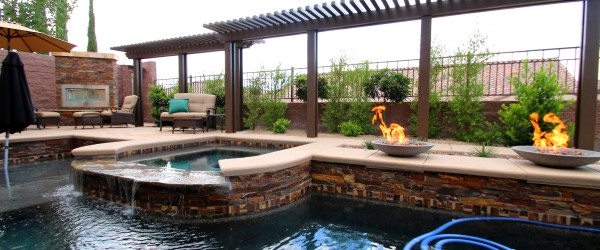 360 Exteriors Custom Designed Pool, Spa and Backyard
